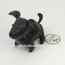 Boîte à monnaie en argent noir pour chien noir
