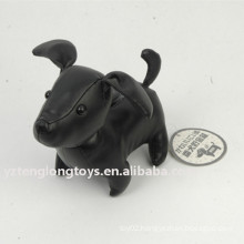 Cool PU black dog money box