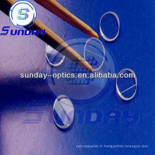 Lentille de ligne laser, verre k9, dia.6x2.0mm, 45 degrés