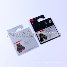 Custom desgin printing rigid paper header card packaging