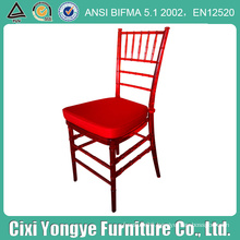 Crystal Red Resin Chaivari Chair for Weddings