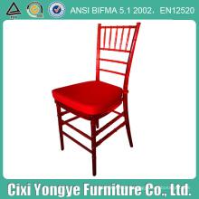 Кристалл Красный смолы Chaivari стул для свадьбы