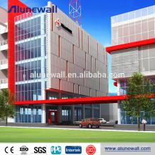 Revestimiento de la fachada del edificio revestimiento de aluminio de 6 mm de espesor panel de revestimiento precio