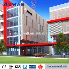 Building facade cladding 6mm thickness aluminium composite cladding panel price