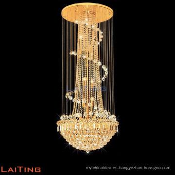 Araña de la vendimia de moda dormitorio decorativo colgante luz de la escalera de luz 6130