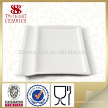 producto nuevo de la fábrica de porcelana de chaozhou plato cuadrado