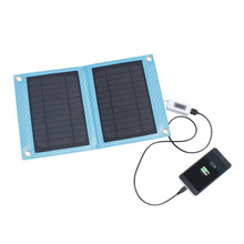 7W Portable Waterproof Solar Mobile Charger for Travel