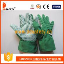 Baumwoll-Gartenhandschuhe mit PVC-Punkten auf Palm Dgb110
