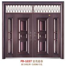 China Puerta de entrada del proveedor de puerta de acero Puerta de puerta de metal del hierro (FD-1227)