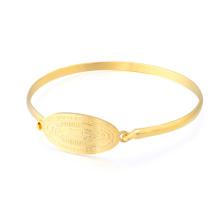 2018 bracelete gravado costume quente das senhoras Dubai do projeto do bracelete do ouro