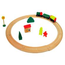 Tren de madera del tren del juguete (19PCS) con el certificado En71
