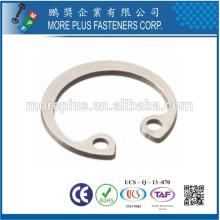 Hecho en Taiwán Anillos internos de retención para agujeros A4 DIN472 Acero inoxidable Circlips