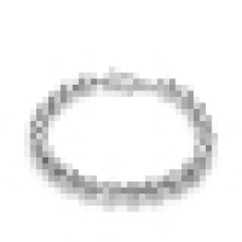 Pulsera de perlas de plata de ley 925 simple de moda de mujer