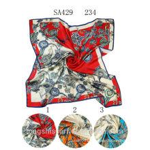 SA429 234 креп-сатин равнина 100% шелк хиджаб шали и scarvessupplier alibaba Китай