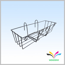 Garden Outdoor Metal Wire Flower Pot Hanging Display Rack