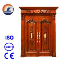 Puerta de madera sólida elegante de Meranti de la alta calidad