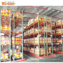 rack de paletes de aço VNA de armazenamento de armazém resistente