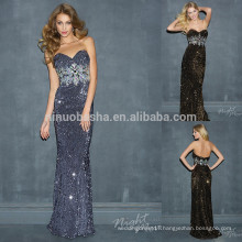 2014 Sheath Shiny Long Sequin Prom Dress With Sparkling Crystal Sweetheart Full-length Zipper Back Sexy Evening Gown NB0710