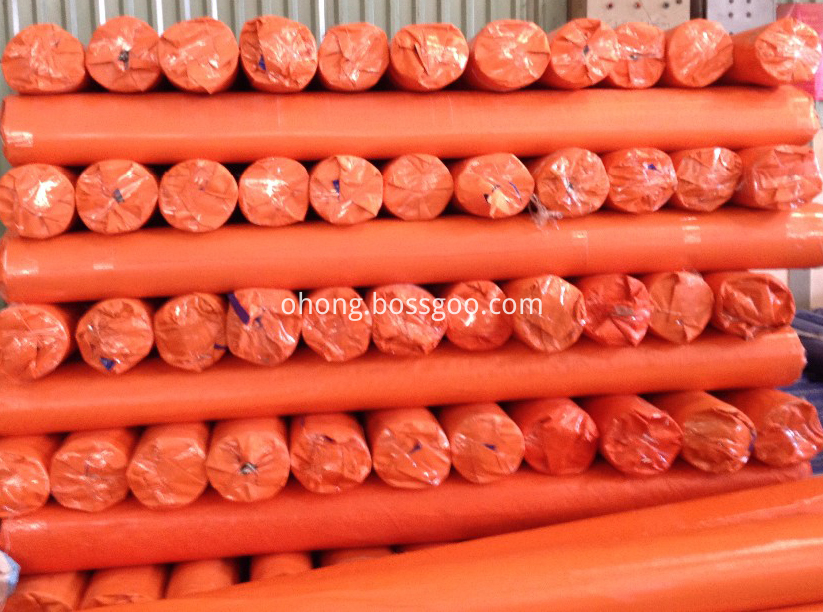 Orange Tarpaulin Roll