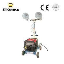 Super stiller geführter Lichtmast ohne Generator