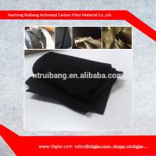 material de filtro de aire tela de fibra de carbono carbón activado ACF fieltro