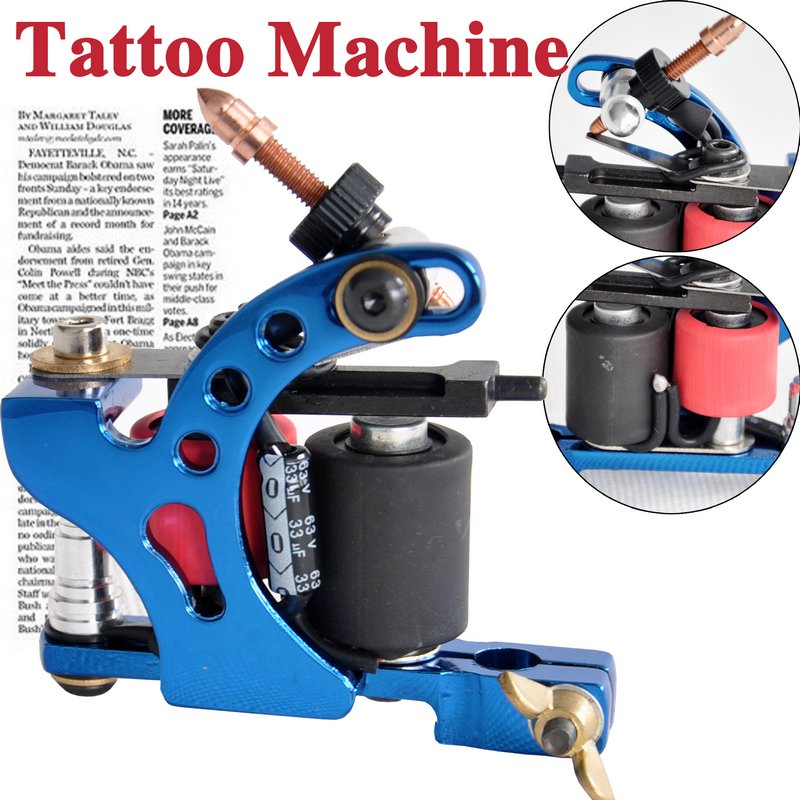 blue tattoo gun