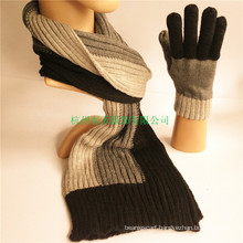 Men Winter Classical Striped Artificial Acrylic and Wool Scarf