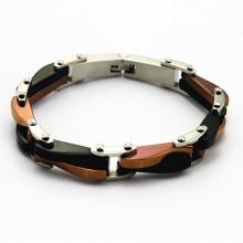 Preço de atacado pulseira de aço inoxidável chapeado fazendo a máquina para homens