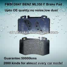 D847 OE QUALITY almofadas de travão de disco de metal baixo para BENZ ML / CL