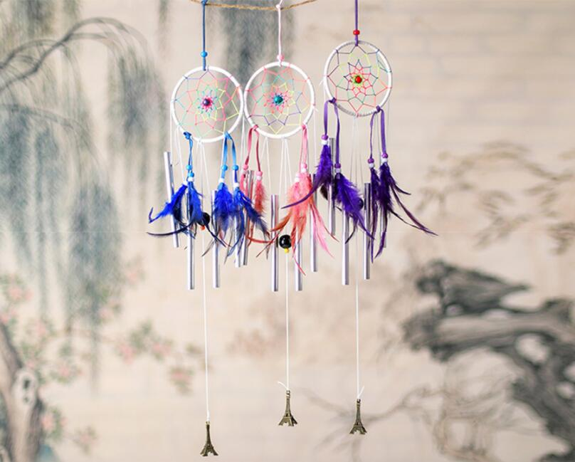 Großhandel Dream Catcher Feather Dekoration Windspiele