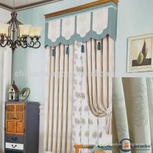 Style moderne de rideau de coton de fenêtre de bureau