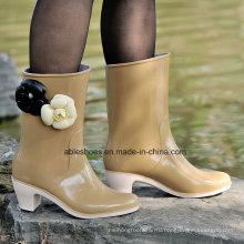 ПВХ дамы высокий каблук Сапоги, комфорт обувь для леди (AB-F2)