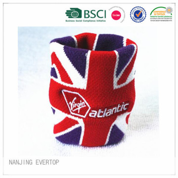 Fashion Cotton Flag Jacquard Sport Wristband