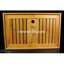 Бамбуковый чайный стол среднего размера-35 * 22.5 * 7см