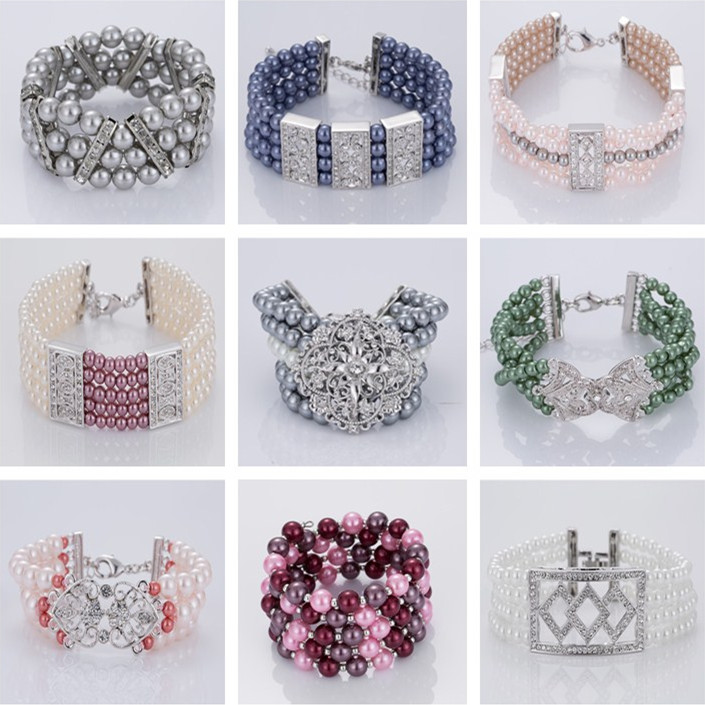 Three Strand Beaded Jewelry Bracelets