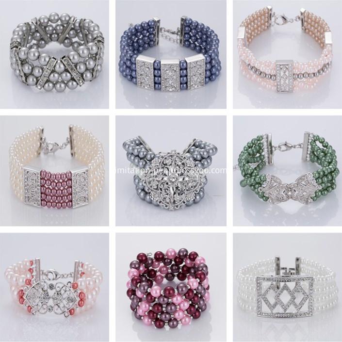2018 Girls Lovely Pearl Beaded Bracelet