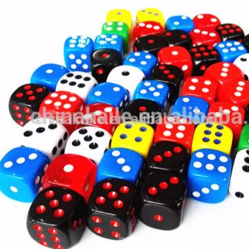 Colored Plastic Spots dice