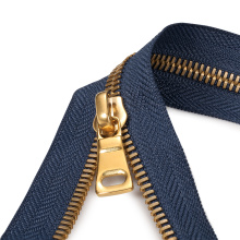 Material de latón Chapado en oro Open-End Metal Zipper