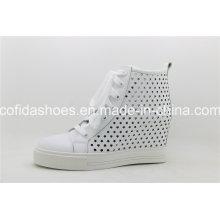 Trendy Casual Sport Leder Frauen Schuhe mit Mode Löcher