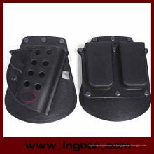 Taktische Airsoft Holster & Mag Pouch Set für M1911 schwarz