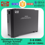 3KWh Cycle Life >2000 cycles Lipo LiFePO4 Lithium Battery Solar Energy Storage System for On/Off-grid Solar Power System Home