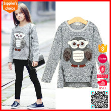 2017 Latest fashion long sleeves cheap kids unique cashmere sweaters