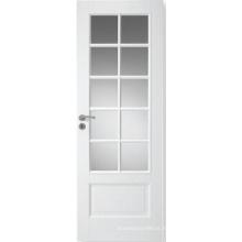 Porta composta do MDF dos produtos quentes do projeto do banheiro, porta interior com vidro