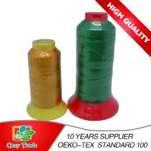 Alta calidad Bonded Nylon66tex50 Tex70 210d / 2 210d / 3 hilo de coser 500y-5000y / Kingspool para bolsas, zapatos, cuero etc