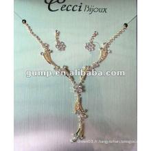Dernier ensemble de bijoux de mariée (GWJ12-520)