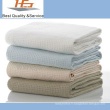 couverture de gaufre d'hôpital molle de coton de qualité supérieure