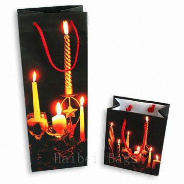 Рождественский бумажный мешок для вина (HBPB-16)