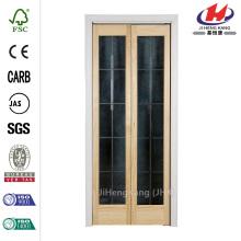 Full Frosted Glass Pine Interior Bi-Fold Door