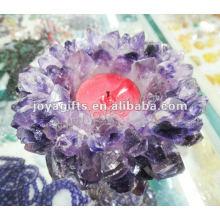 Neues Produkt / Amethyst / Lila Kristall Kerzenständer / Kristall Kerzenständer / Lotus Form Kristall Kerzenständer