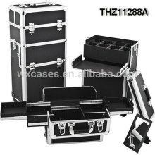professional cosmetic trolley cases can be splitted into 2 parts-cosmetic case and cosmetic trolley case